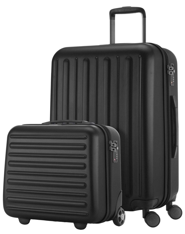 HAUPTSTADTKOFFER-Tegel-2er-Koffer-Set-Pilotenkoffer-Handgepck-Mittelgroer-Koffer-Trolley-Set-Rollkoffer-Reisekoffer-TSA-Zahlenschloss