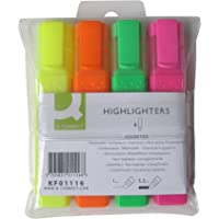 Q-Connect Highlighter Pens KF01116 - Assorted, Pack of 4