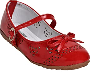 Leatherwood1 Gilrs Red ballerina shoes