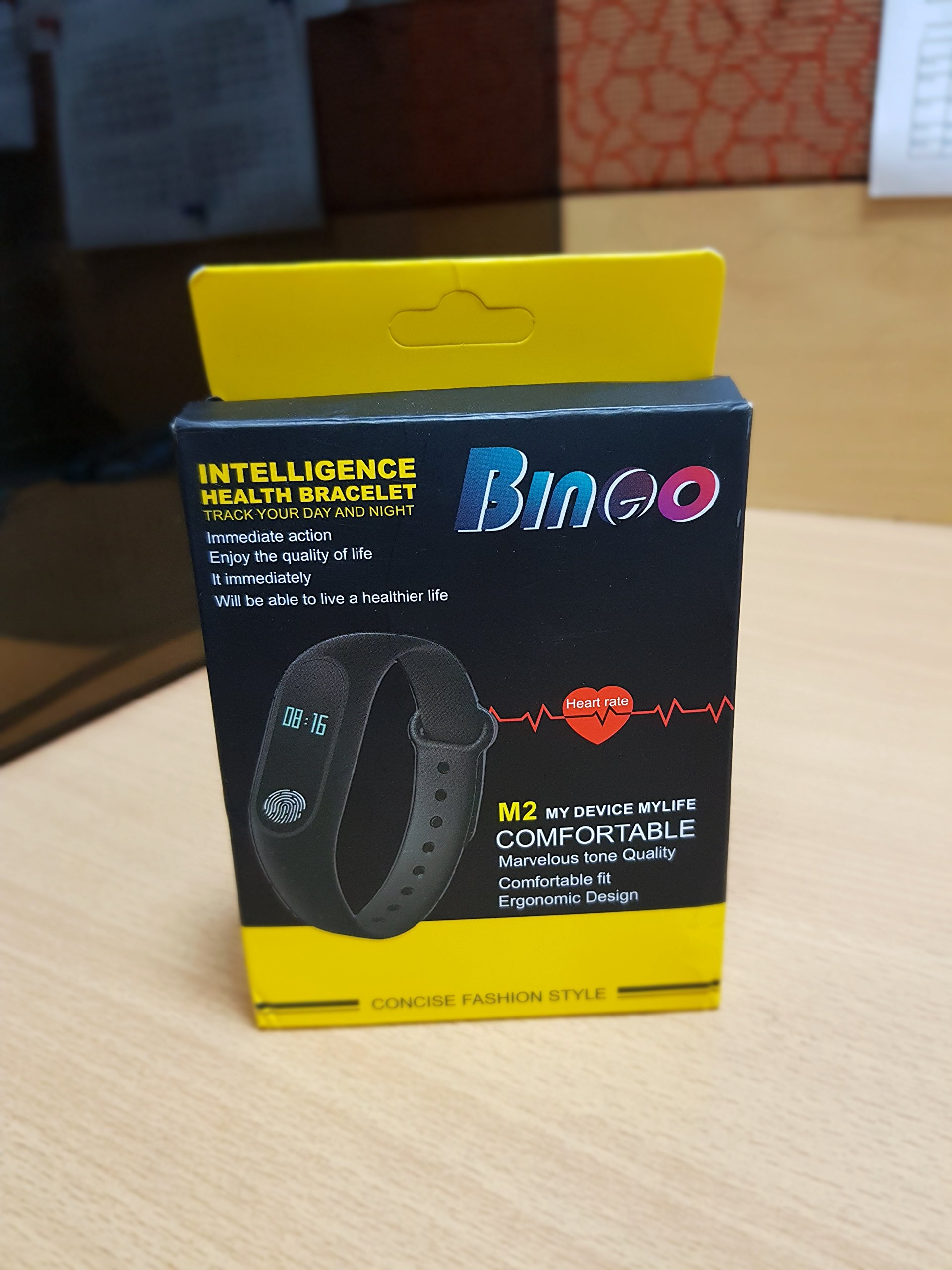 Bingo M2 Smart Band With Heart Rate Sensor Features And Many Other  Impressive Features, Water Proof Or Sweat Free Compatible With All Device  (Black)