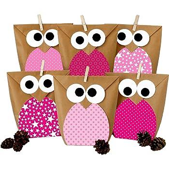 diy geschenkt ten set eulen rosa mitgebsel f r kindergeburtstag zum selber basteln und. Black Bedroom Furniture Sets. Home Design Ideas