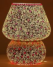 Mejilla Antique Decorative Mosaic Table Lamp(Multicolour, 20x17.5x17.5cm)