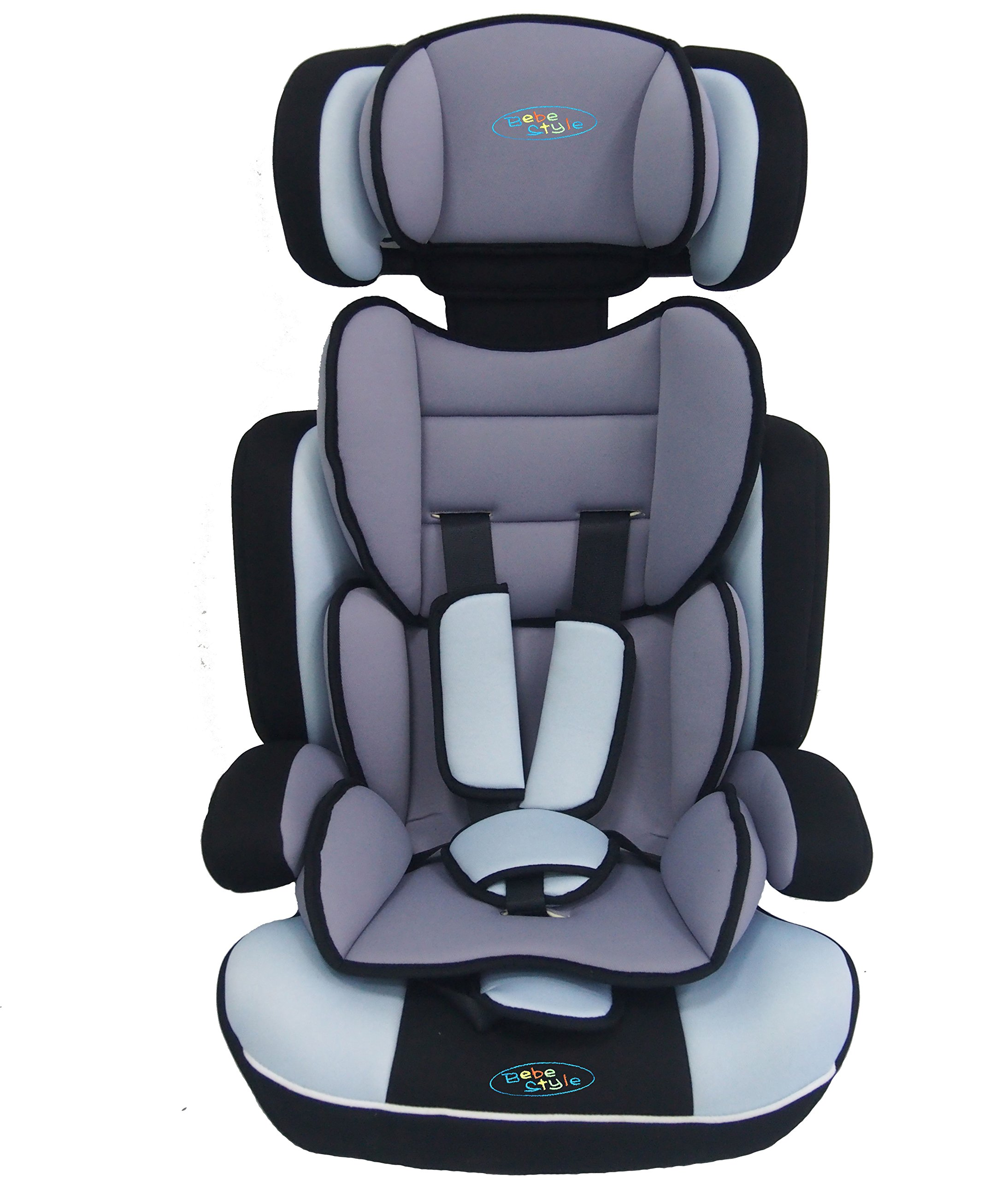 Bebe Style Convertiblle 1/2/3 Combination Car Seat and Booster Seat - Blue  From 9 months to 12 years old, one size fits all (9-36kg) Converts to booster seat.  Very Thick Padding Adjustable height of headrest and shoulder straps for the growing needs of the child 3