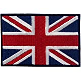 British Union Jack Embroidered Flag Emblem UK Great Britain Applique Iron On Sew On Patch