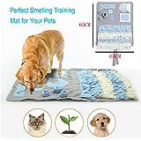 Schnüffelteppich für Hunde, Hund Riechen Trainieren, Geruchsempfindung Trainieren Matte, Schadstofffreies Hundespielzeug Fördert Natürliche Nahrungssuche, Spielen Matte Toy Nase Arbeit für Haustier
