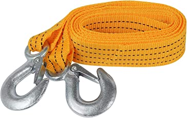 QUIT-X Car Tow Rope Straps with Hooks Reflective- 5T 11000LBS- 5M with Vehicle High Strength Emergency Towing Rope Cable Cord Heavy Duty Recovery Securing Accessories for Cars Trucks