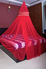 Creative Textiles Stylish Pink Color Mosquito Net Size:- Double Bed