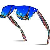 KITHDIA occhiali da sole in legno da uomo unisex occhiali da sole polarizzati con protezione UV400 occhiali da sole Donna S50