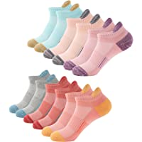 Trainer Socks Womens 6 Pairs Cushioned Sports Socks for Women Cotton Breathable Cushion Running Socks Ladies Casual…