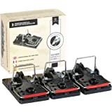 3 x piège à rats professionnel - piège à rats sans poison pour rats | Efficace | Utilisation simple | Réutilisable | Fiable |