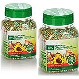COM-FOUR® 2x 500g universele meststof, uitgebalanceerde langdurige meststof voor alle kamer-, balkon- en buitenplanten, voor