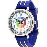 KIDDUS Orologio educativo analogico per bambini, per imparare l'orario con il nostro semplice sistema Time Teacher, esercizi