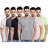 VIMAL JONNEY Men's Slim Fit T-Shirt (Pack of 6)