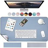 Weelth Tapis de bureau multifonction étanche en cuir PU double face pour bureau ou maison
