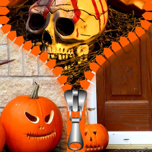 Halloween Zipper Lock Screen
