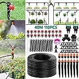 """Tencoz Sistema de riego de jardín, 40m Kit de riego por Goteo Riego Manguera de 1/4"""" automático Rociadores automáticos Kit de"""
