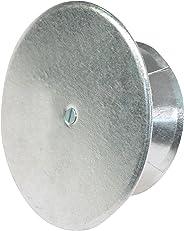 Kamino Flam Kaminlochdeckel aus verzinktem Stahl, feueraluminiert (FAL), Kaminverschluss mit Isolierungsplatte, Ofenkappe mi