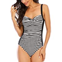 WIN.MAX One Piece Swimming Costume Tummy Control Swimsuit Ruched Padded Swimwear, Plus Size Bathing Suits for Women…