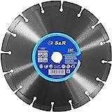 S&R Disco diamantato 230 x 2,2 x 10 mm, saldato al laser. Disco Taglio Cemento, Granito, Pietra, Pietra Naturale, Marmo, Mattoni