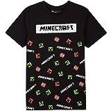 Minecraft Camiseta Niño, Ropa Niño Algodón 100%, Camisetas de Manga Corta con Personaje Creeper, Merchandising Oficial Regalo