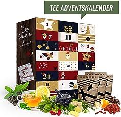 Tee Adventskalender mit 24 edlen Tees aus aller Welt (Tee Reise) I Teekalender als Geschenk für Erwachsene I Weihnachtskalender mit Tee Geschenkset (Tee Adventskalender Inhalt 480 GR)