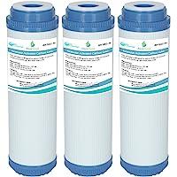 AquaHouse Gac-10 Lot de 3 Cartouches pour l'Osmose Inverse - Filtre à Eau au Charbon Actif Granulaire - pour l'ensemble…