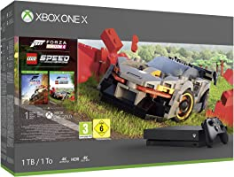 Microsoft Xbox One X 1TB Console (Black) with Forza Horizon 4 Lego Speed Champions Bundle