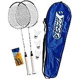 Best Sporting 200 XT Badminton Set, 2 Badminton racketar 3 bollar inklusive bärväska