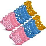 Mowenti Chaussettes pour Filles Coton Lot de 10 paires Enfant Courte Socquette