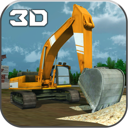 Schwere Bagger Simulator Sand - Und Lkw, Graben Dump