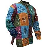 SHOPOHOLIC FASHION Stonewashed Patchwork Hippie Shirt