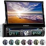 "XOMAX XM-DTSB931 Autoradio mit 18cm / 7"" HD Touchscreen I Bluetooth I DVD, CD, USB, SD, AUX I RDS I 7 LED Beleuchtungsfarben I Anschlüsse für Rückfahrkamera, Lenkradfernbedienung, Subwoofer I 1 DIN"