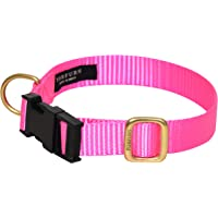 FORFURS Dog Classic Snap Collar for Small Dogs (Hot Pink)
