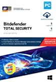 BitDefender Total Security Latest Version with Ransomware Protection (Windows) - 1 User, 1 Year (Email Delivery in 2…