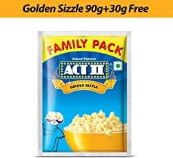 Act II Instant Golden Sizzle Popcorn, 90g + 30g Free