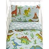 Dinosaurs Reversible Cot Duvet Cover and Pillowcase Set - 90cm x 120cm