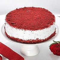 Ferns 'N' Petals Red Velvet Fresh Cream Cake Half kg Eggless  Birthday Cake  Anniversary Cake Next Day Delivery