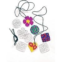 """Baker Ross Kette mit Acryl-Anhängern """"Mosaik-Kristalle"""" - Halskette - Schmuck für Kinder zum Basteln - 12 Stück"""