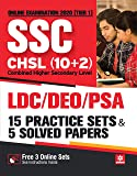 SSC CHSL Combined Higher Secondary Level 15 Practice Sets & Solved Papers 2020
