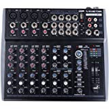 Sound Town Professional 12-Channel Audio Mixer with USB interface, Recording, EQ, Bluetooth, DSP and 48V Phantom (TRITON-A12B