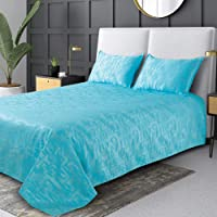 Victor Poly Cotton Satin King Size Bedcover | Luxourious Premium Excel Criss Cross Geometrical Pattern Ultra Soft Bed…