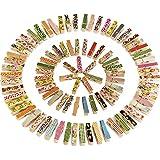 Mini Colores Natural Pinza de Madera Foto Papel Pinza, 100 Piezas