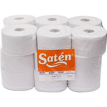 Saten Higiénico Industrial, Celulosa Reciclada, 2 Capas, Gofrado, Ancho 90, 90 Metros, Set de 18