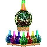 Rotatif Diffuseurs d'huiles essentielles avec minuterie, diffuseurs d'arômes ultrasoniques sans BPA,120 ml Cool Mist humidifi