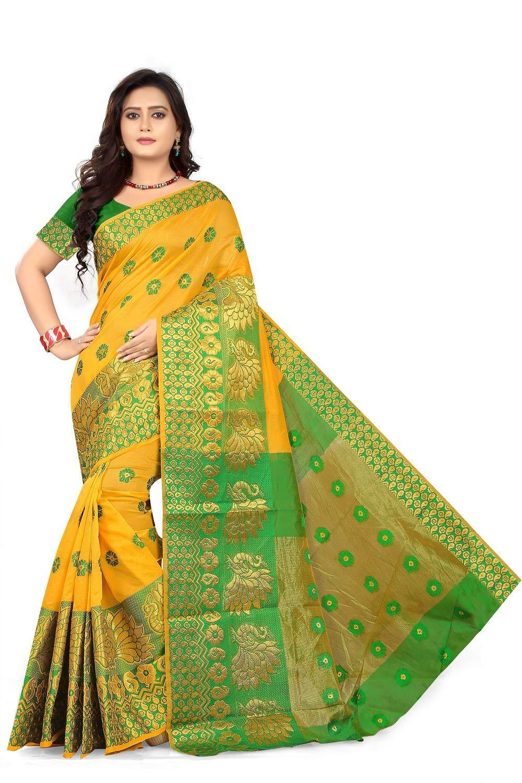 Khadi Silk Saree With Blouse Piece