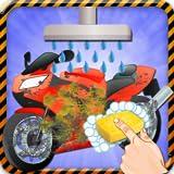 lavaggio bici della sporcizia