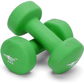 Maximo Fitness Mancuernas de Neopreno (Par) - 2 x 4kg - Pesas de Mano