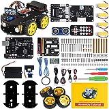 ELEGOO UNO R3 Kit de Coche Robot Inteligente V3.0 Plus Compatible con Arduino IDE con Módulo de Seguimiento de Línea, Sensor
