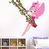 Amazon Brand - Solimo Wall Sticker for Kids Room (Spring Fairy ), Ideal Size on Wall: 75 x 75 cm
