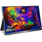 Monitor Portátil 15,6 Pulgadas, Eviciv Monitor HDMI Portatil USB C Pantalla IPS 1080P Full HD de Bisel Ultra Estrecho 100% sR